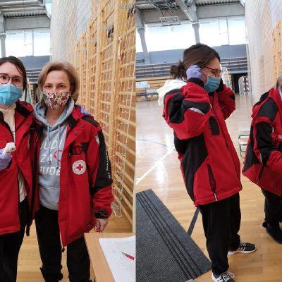 Volonteri u akciji mjerenja temperature građana na cijepljenju